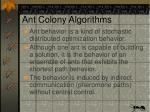 ant colony algorithms1