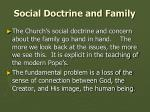 social doctrine and family
