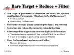 bare target reduce filter