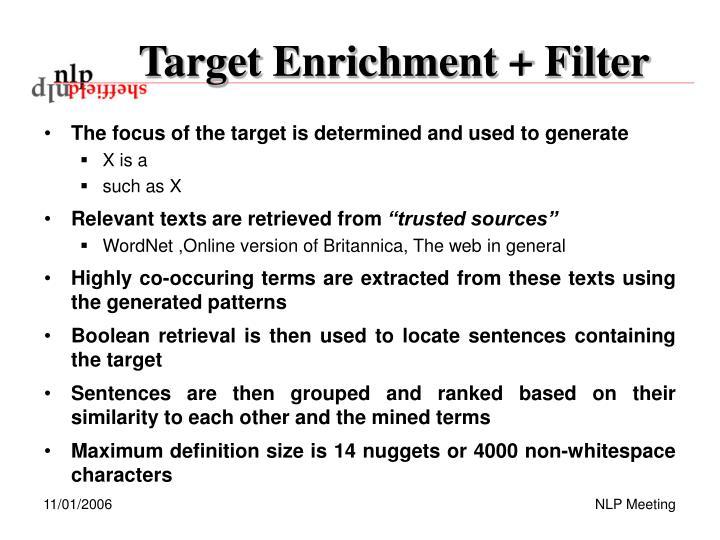 Target Enrichment + Filter