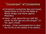 conversion of constantine