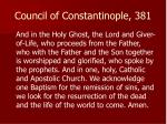 council of constantinople 381