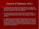council of ephesus 431
