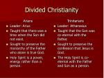 divided christianity