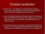 ecclesial jurisdiction