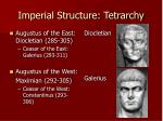 imperial structure tetrarchy