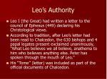 leo s authority