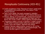 monophysite controversy 433 451