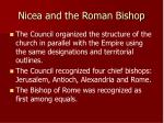 nicea and the roman bishop