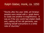 ralph glaber monk ca 1050