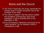 rome and the church