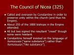 the council of nicea 325