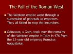 the fall of the roman west
