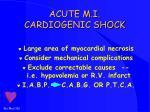 acute m i cardiogenic shock