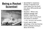being a rocket scientist