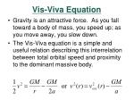 vis viva equation