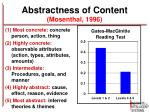 abstractness of content mosenthal 1996