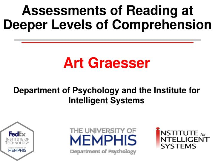 assessments of reading at deeper levels of comprehension n.