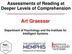 assessments of reading at deeper levels of comprehension
