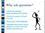 why ask questions