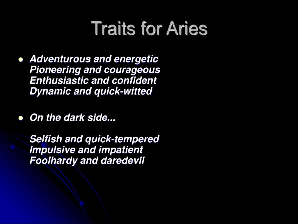 Traits for Aries