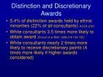 distinction and discretionary awards