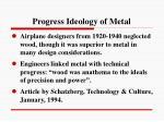 progress ideology of metal