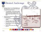 desired anchorage
