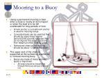 mooring to a buoy