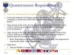 quartermaster requirement 8