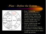 plan define the system