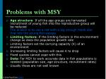 problems with msy