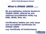 what is ohsas 180006