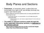 body planes and sections1