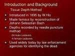 introduction and background tissue depth method2