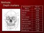 methods depth markers