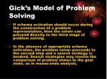 gick s model of problem solving