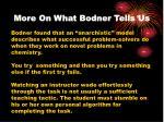 more on what bodner tells us