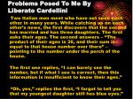 problems posed to me by liberato cardellini