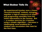 what bodner tells us