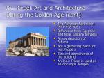 xv greek art and architecture during the golden age cont1