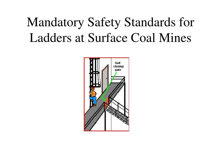 mandatory safety standards for ladders at surface coal mines n.