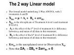 the 2 way linear model