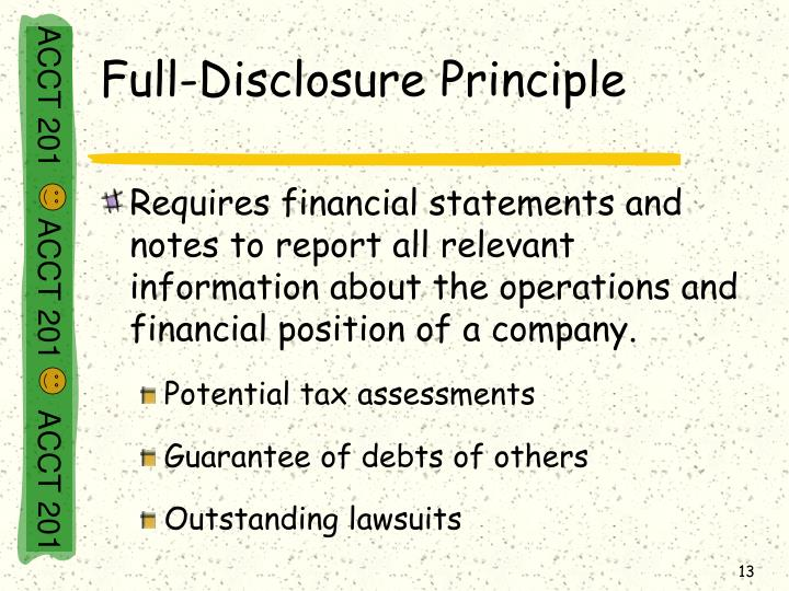 Full-Disclosure Principle
