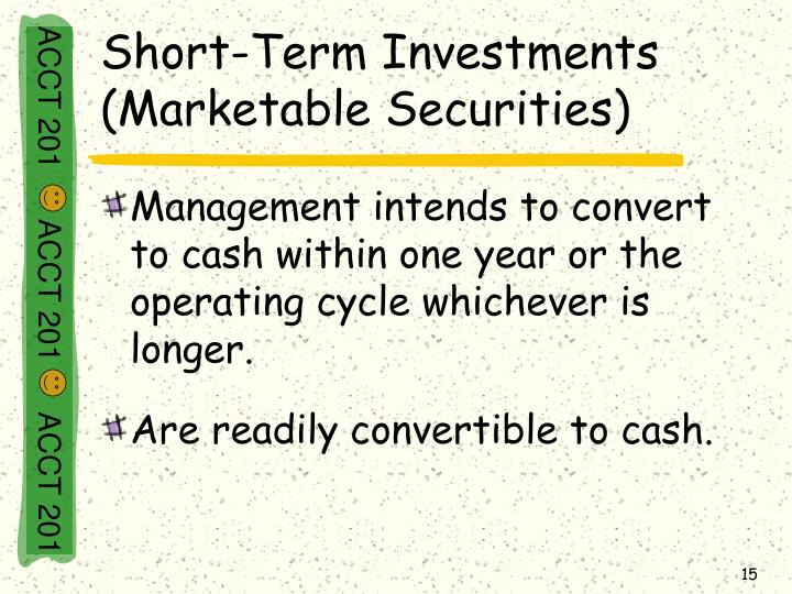 Short-Term Investments (Marketable Securities)
