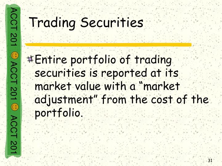 Trading Securities