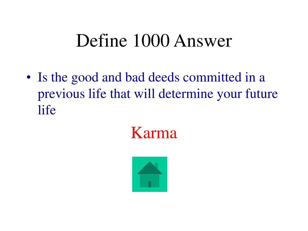 Define 1000 Answer