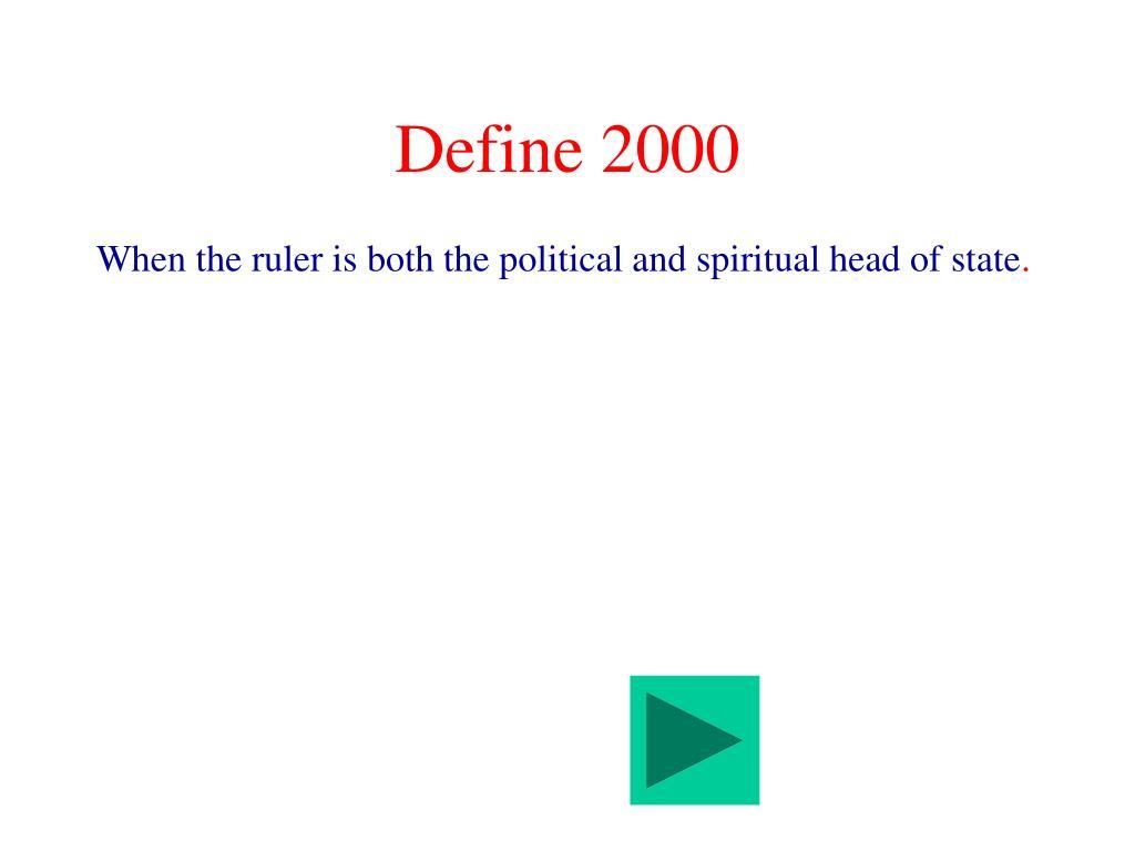 Define 2000