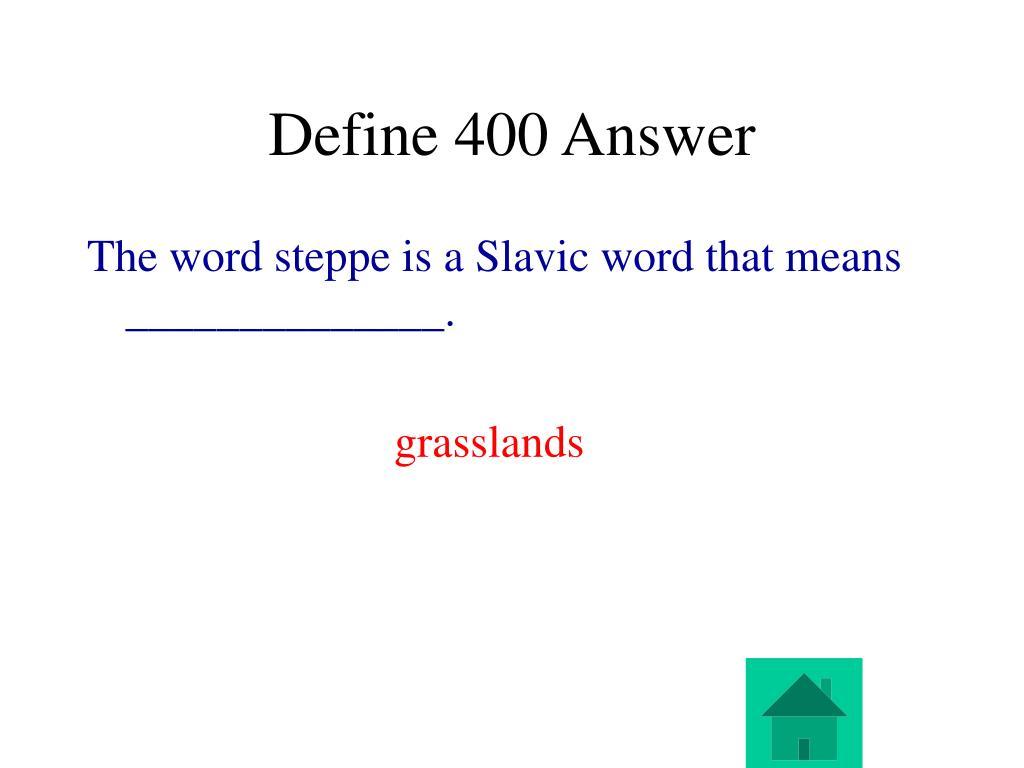 Define 400 Answer