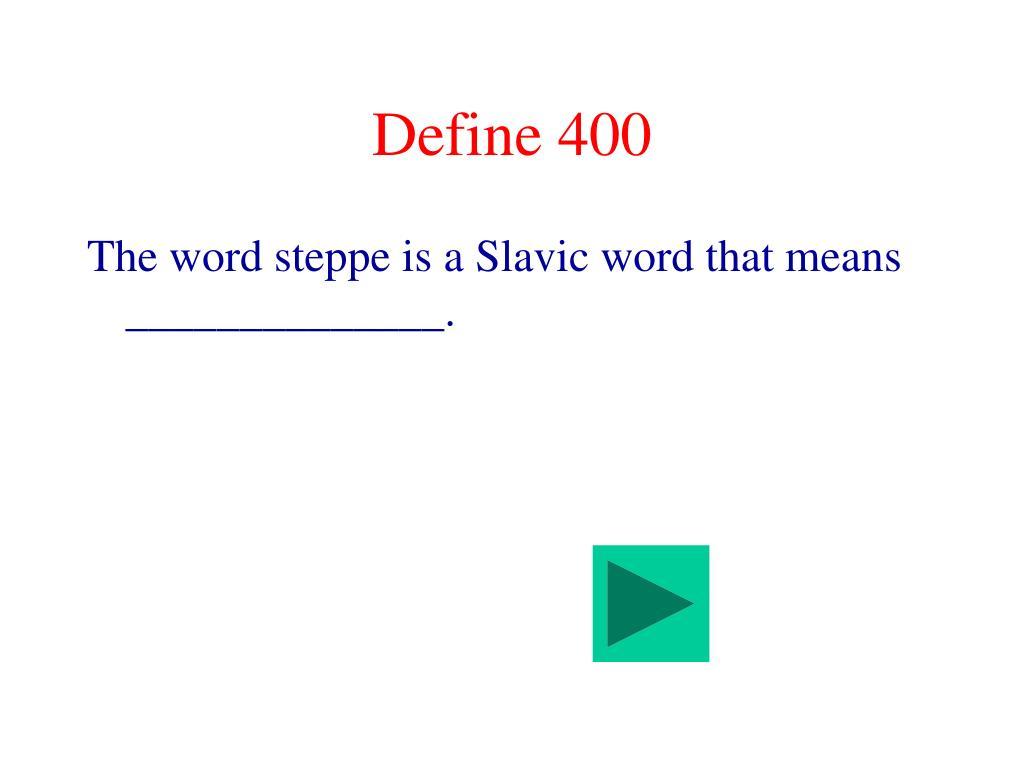 Define 400